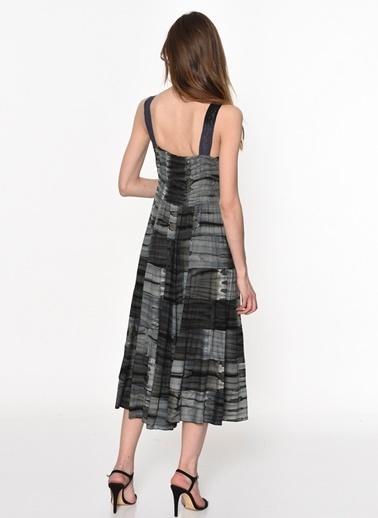 Askılı Uzun Kloş Elbise-Dewberry